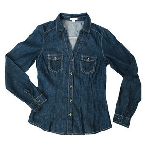 Timing Denim button down Shirt Size Small